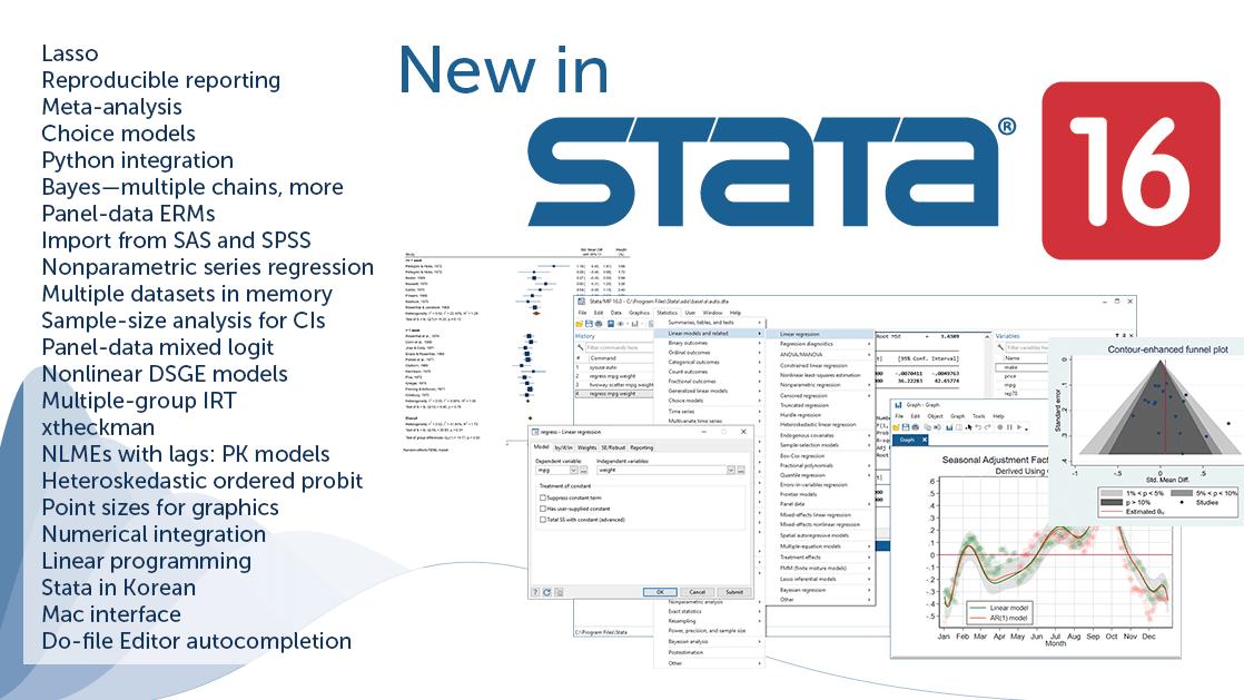 Stata 16 64bit - Tải về phần mềm Stata 16 Windows 64bit & 15 MacOS