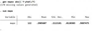 Capture3 300x101 - Cách tính giá trị các chỉ số AIC BIC MAE MAPE MSE RMSE