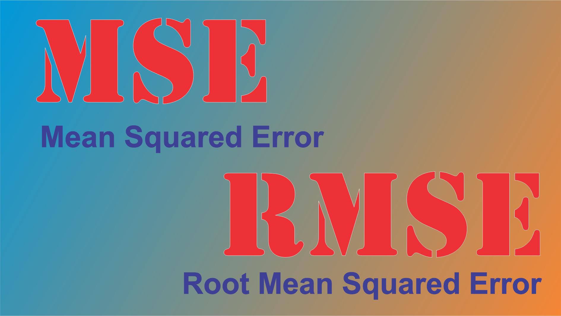 rmse - MSE và RMSE là gì và cách tính trên STATA